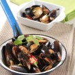 Steamed mussels — Stock Photo #5941477
