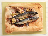 Baked Mackerel — Stock Photo