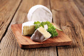 White rind cheese — Stock Photo