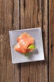 Smoked salmon — Stockfoto