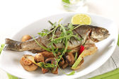 Pan fried trout — Stock Photo