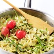 Stock Photo: Bow tie pasta salad