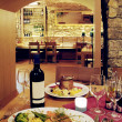 Wine cellar restaurant - Stock Photo
