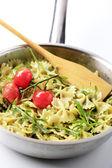 Bow tie pasta salad — Stock Photo