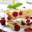 Cherry sponge cake - Stock Photo