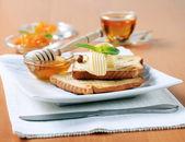 śniadanie na słodko — Zdjęcie stockowe