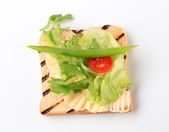 Toast and greens — Stock Photo