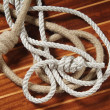 Ropes with knots - Stok fotoğraf
