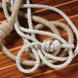 Ropes with knots - Foto Stock