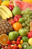Assortment of fresh fruit — Stock Photo