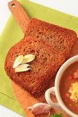 Fried bread — Stock Photo