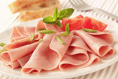 Sliced ham — Stock Photo