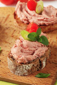 Bread and pate — Stock Photo