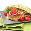 Salmon Burger — Stock Photo