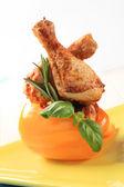 Spicy chicken drumsticks — Stock Photo