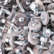 Roof metiz, screw for fixing sheeting — Stock Photo
