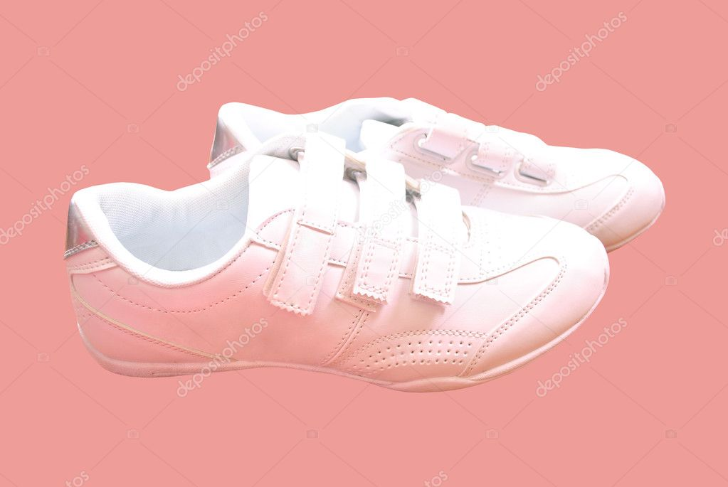 White, sports, shoes, sneakers, running, training, clothing, macro, steam, stitch, leather, a classic  Stock Photo #5496249
