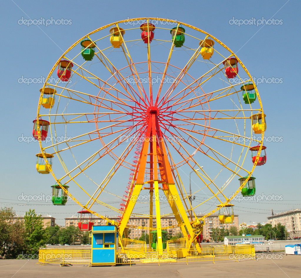 Gorky Park, Moscow, Ferris wheel, wheel, circle, round, color, big