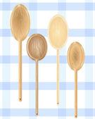 Wooden spoons — Stock Vector