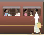 Indian train — Cтоковый вектор