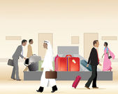 Baggage carousel — Stock Vector