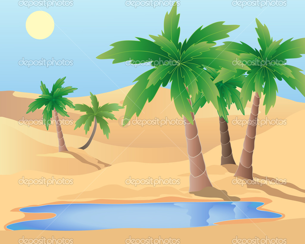 desert oasis coloring pages - photo#34