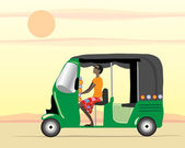 Auto rickshaw driver — Stock Vector