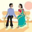 Royalty-Free Stock Imagem Vetorial: Asian couple