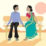 Asian couple — Stock Vector #6184254