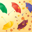 Autumn umbrellas — Stock Vector