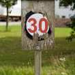 Royalty-Free Stock Photo: Speed Limit Sign
