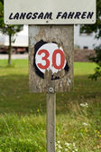 Speed Limit Sign — Stok fotoğraf