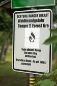 Danger. feu de forêt — Photo