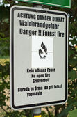 Danger. Forest fire — Stockfoto