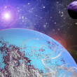 Blue Planet in space — Stock Photo