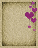 Textural heart old paper — Stock Photo
