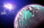 Planeet in de ruimte — Stockfoto