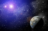 Planet in space — Stock fotografie