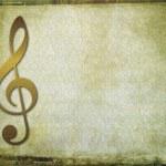 Musical key background — Stock Photo
