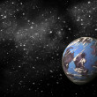 Earth planet in space — Stock Photo