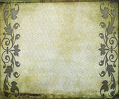 Textural old Background With drawing elements — Stock Photo