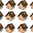 Set vector illustrations little house — Stock Vector