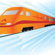 Fast, high speed vector train — Stock Vector