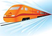 Fast, high speed vector train — Stok Vektör