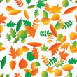 Vector seamless pattern from leaves of trees — Stock Vector