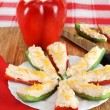 Stuffed Pepper Appetizers — Stock Photo
