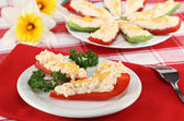 Overnight Stuffed Peppers Hors d'oeuvre — Stock Photo