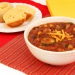 Vegetarian Chili and Corn Muffins — Stock Photo