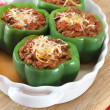Stuffed Green Peppers - Stockfoto