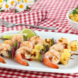 Royalty-Free Stock Photo: Barbecued Shrimp Kabobs